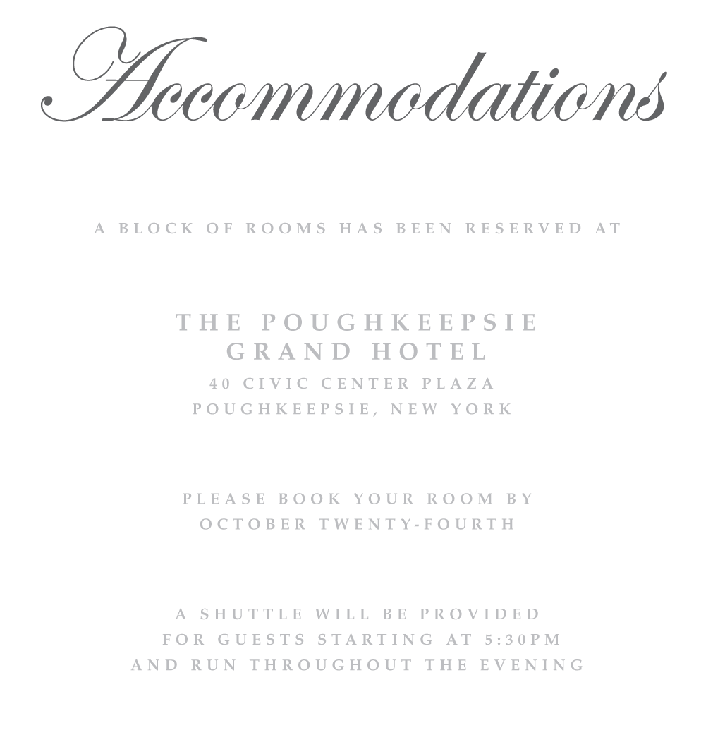 Accommodations Card